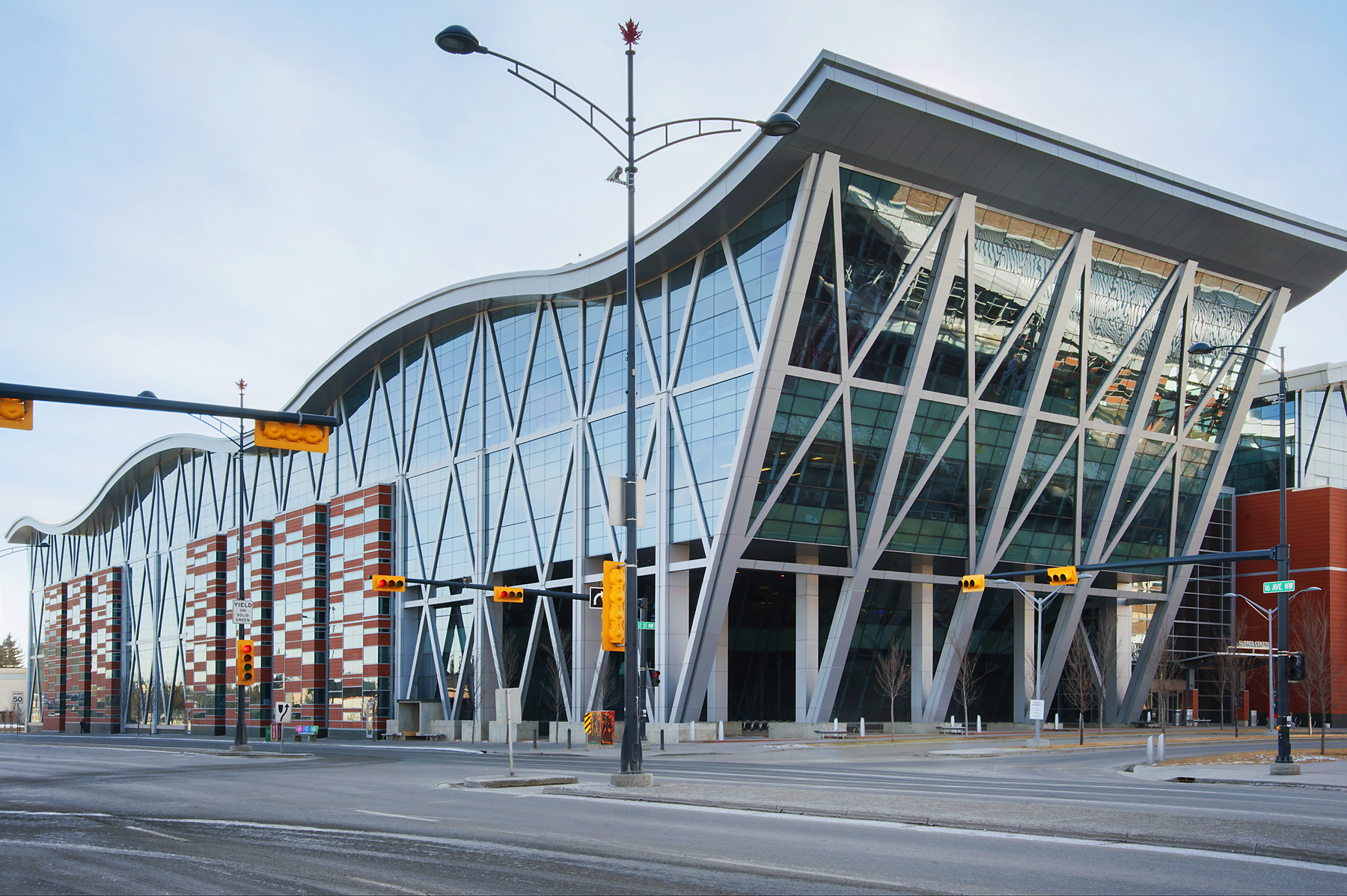 Southern Alberta Institute of Technology, Glass and aluminum by Metropolis Facades Inc.